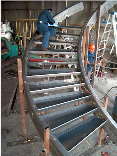 Curved Stairways Amp Stair Stringers Gardena Ca A Amp M
