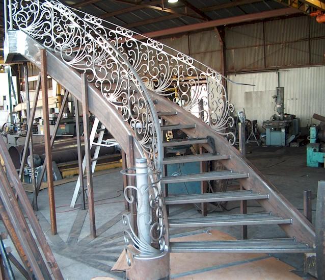 Curved Stairways & Stair Stringers - Gardena, CA | A&M Metal