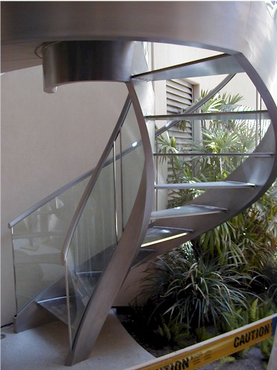 Curved Stairways & Stair Stringers - Gardena, CA | A&M Metal