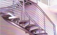 Custom Curved Stairway